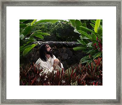 Thy Will Be Done Framed Print by Lois Colton