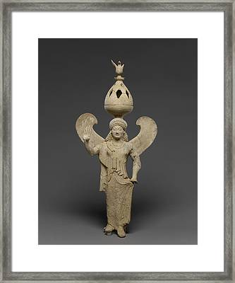 Thymiaterion Supported By A Statuette Of Nike Unknown Sicily Framed Print by Litz Collection
