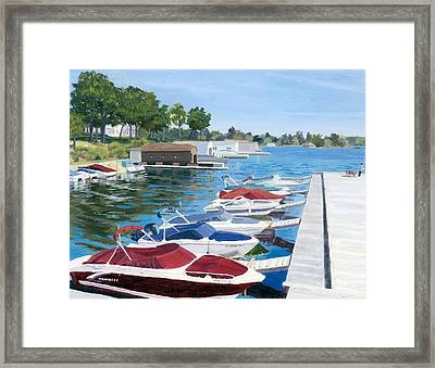 Framed Print featuring the painting T.i. Park Marina by Lynne Reichhart
