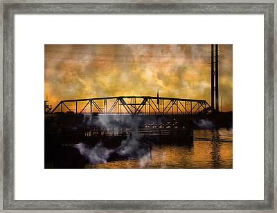 Ti Swing Bridge Ghost Framed Print