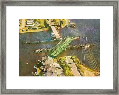 Ti Swingin' Swing Bridge Framed Print by Betsy Knapp