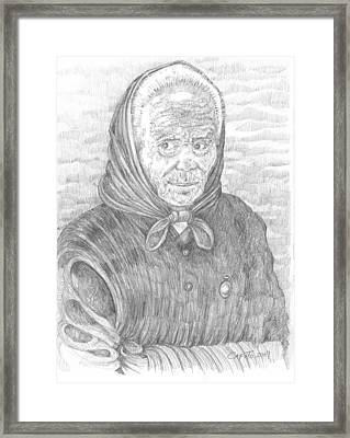 Framed Print featuring the drawing Ti Vedo Ti Sento by Giovanni Caputo