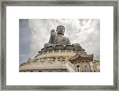 Tian Tan Buddha Framed Print by David Gn