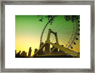Tianjin Eye  Framed Print