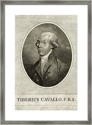 Tiberius Cavallo Framed Print by Print Collection, Miriam And Ira D. Wallach Division Of Art, Prints And Photographs/new York Public Library