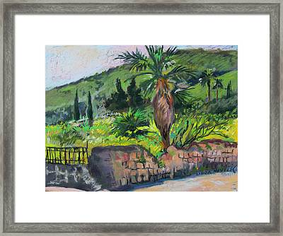 Framed Print featuring the painting Tiberius Israel by Linda Novick