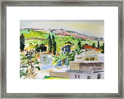 Tiberius Rooftops Framed Print