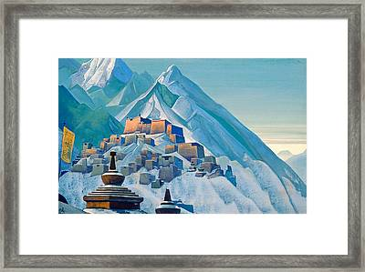 Tibet - Himalayas Framed Print by Nicholas Roerich