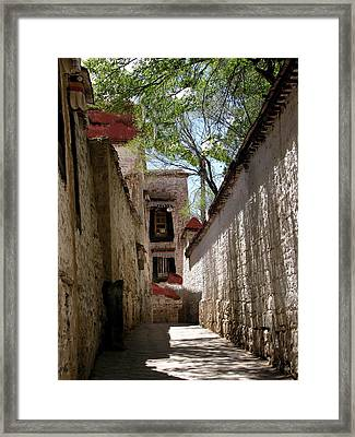 Tibet - Sera Monastery Framed Print by Jacqueline M Lewis