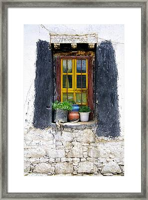 Tibet Window Framed Print by Kate McKenna