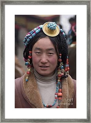 Tibetan Beauty - Kham Framed Print