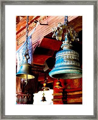 Tibetan Bells Framed Print by Greg Fortier