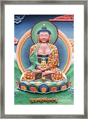 Tibetan Buddhist Deity Sculpture Framed Print by Tim Gainey
