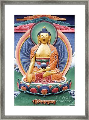Tibetan Buddhist Deity Wall Sculpture Framed Print by Tim Gainey