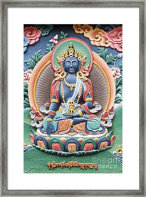 Tibetan Buddhist Temple Deity Framed Print by Tim Gainey