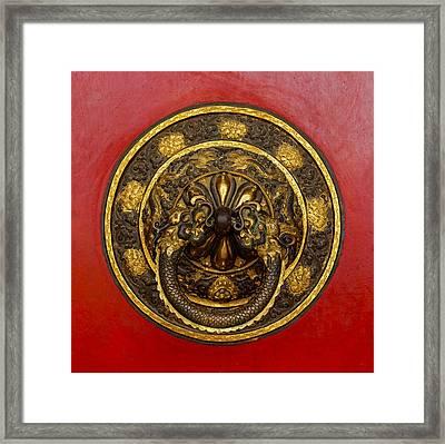 Tibetan Door Knocker Framed Print