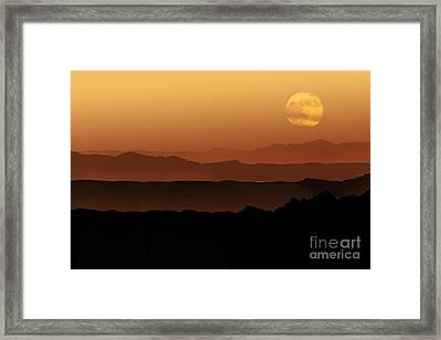 Tibetan Mountains Framed Print