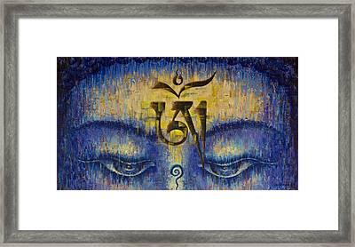 Tibetan Om Framed Print by Vrindavan Das