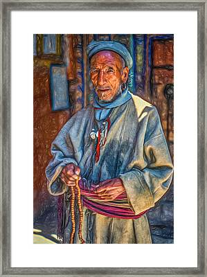 Tibetan Refugee - Paint Framed Print by Steve Harrington