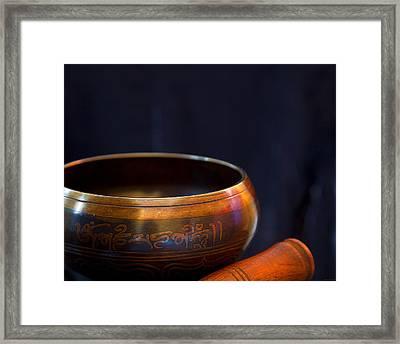 Tibetan Singing Bowl Framed Print