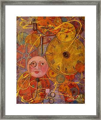 Framed Print featuring the painting Tic Toc by Jane Chesnut