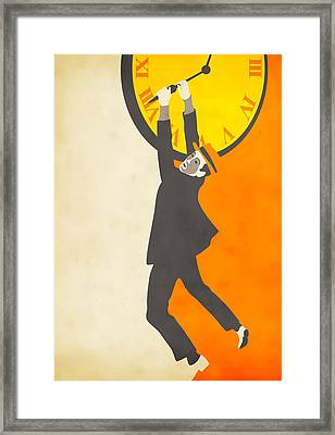 Tick Tock Framed Print by Jazzberry Blue