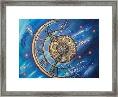 Tick Tock Framed Print by Krystyna Spink