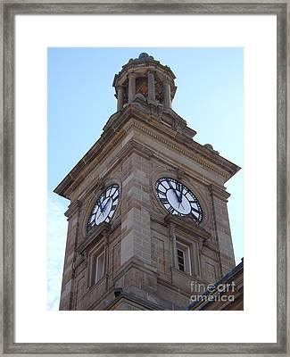 Tick Tock Framed Print by Sara  Raber