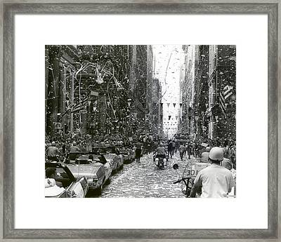 Ticker Tape Parade In Chicago For The Apollo 11 Astronauts  Framed Print