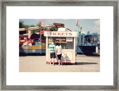 Ticket Booth Framed Print by K Hines