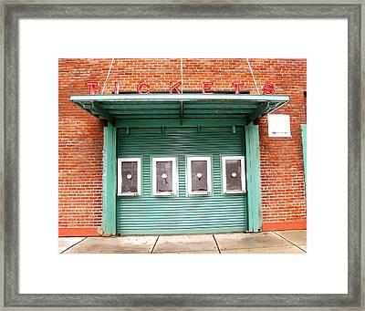 Ticket Booth  Framed Print by Michelle Wiltz