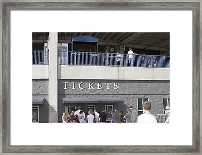Tickets Framed Print