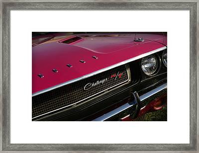 Tickled Pink 1970 Dodge Challenger R/t Framed Print