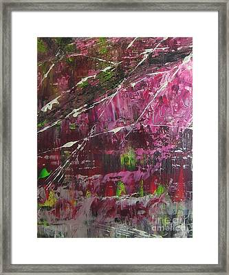 Framed Print featuring the painting Tickled Pink by Lucy Matta