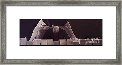 Tickling The Ivory Too Framed Print