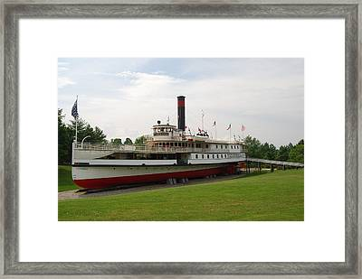 Framed Print featuring the photograph Ticonderoga On Dry Land by Caroline Stella