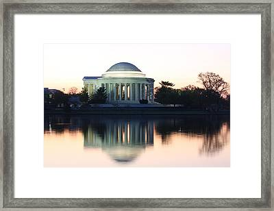 Tidal Basin Sunrise Framed Print