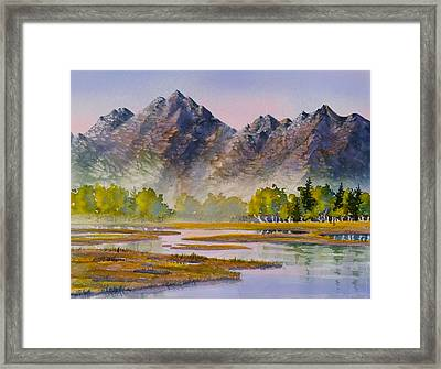 Tidal Flats Framed Print by Teresa Ascone