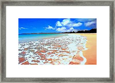 Framed Print featuring the painting Tidal Lace by Sophia Schmierer