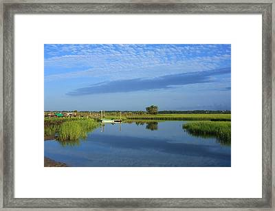 Tidal Marsh At Wrightsville Beach Framed Print