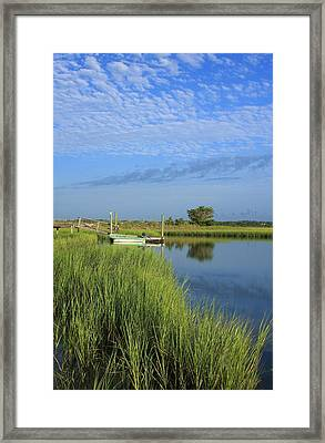 Tidal Marsh Wrightsville Beach Framed Print by Mountains to the Sea Photo