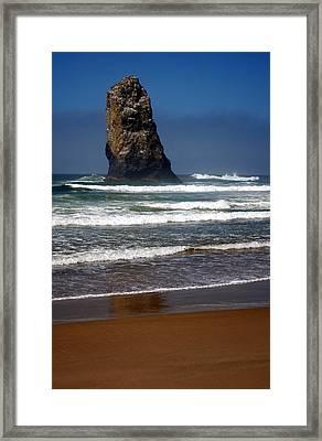 Tidal Monument Framed Print by Mamie Gunning