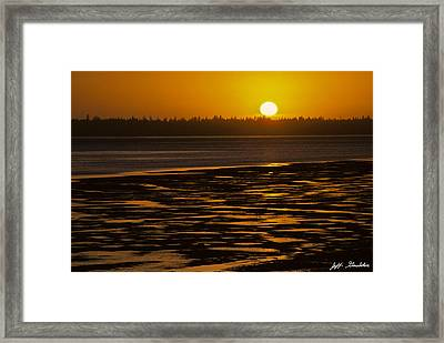 Framed Print featuring the photograph Tidal Pattern At Sunset by Jeff Goulden