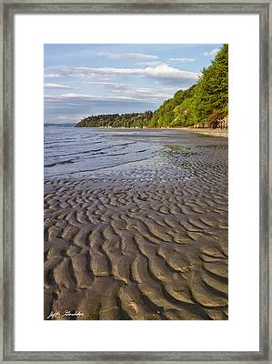 Framed Print featuring the photograph Tidal Pattern In The Sand by Jeff Goulden