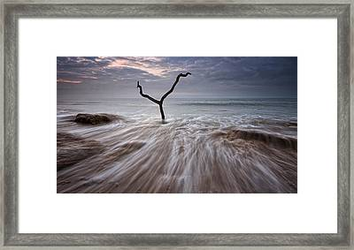 Tidal Rush Framed Print by Mark Leader
