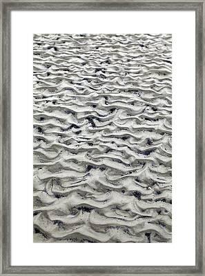 Tidal Sand Ripples Framed Print