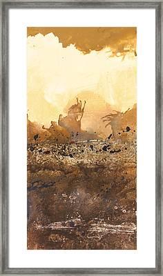Tidal Sunrise Panel 3 Framed Print by Craig Tinder