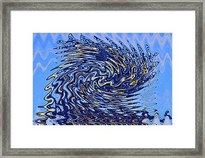 Framed Print featuring the photograph Tidal Wave by Gary Holmes