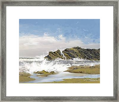 Tide Is Coming In Framed Print by Jim Hubbard