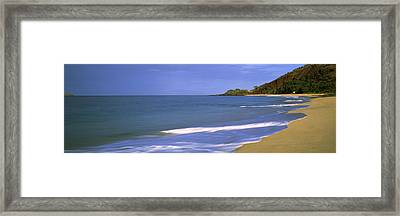 Tide On The Beach, Makena Beach, Maui Framed Print